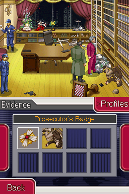 Ace Attorney Investigations - I can walk around without a menu in this game